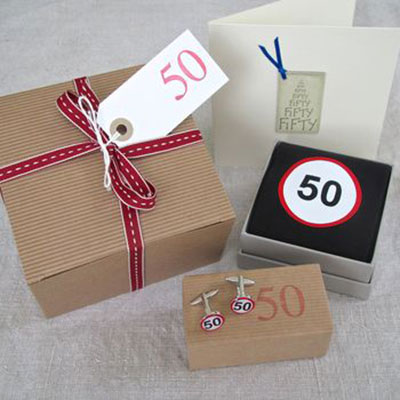 50th Birthday Men S Filled Gift Box