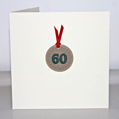 Handmade 60th Birthday Card