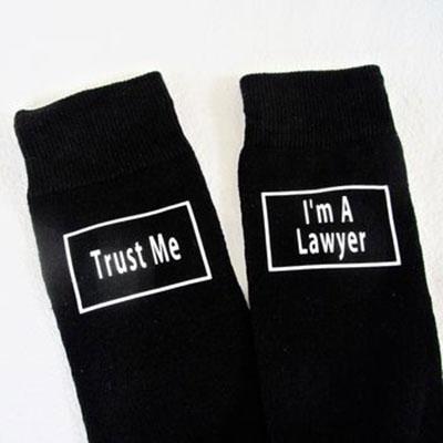 Pair of Trust Me I/'m a Lawyer Socks
